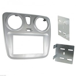 Kit integration 2 DIN DACIA LODGY 2012- ARGENT