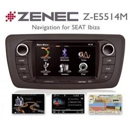ZENEC Z-E5514M la station multimedia specifique SEAT IBIZA