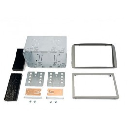 Kit integration 2 DIN ALFA 147 2000-2010 (Type 937) - ARGENT