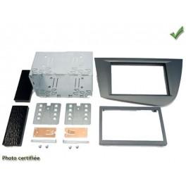 Kit integration 2 DIN SEAT LEON 2005- GRIS METAL