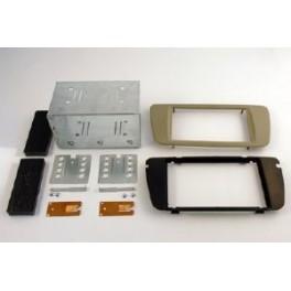 Kit integration 2 DIN SEAT IBIZA 2008- GRIS BEIGE