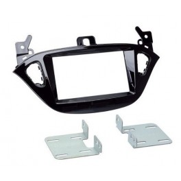 Kit integration 2 DIN OPEL ADAM 01/2013- NOIR LAQUE