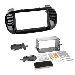 Kit integration 2 DIN FIAT 500 C 2009- NOIR BRILLANT