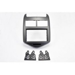 Kit integration 2 DIN CHEVROLET AVEO 10/2011- GRIS METAL