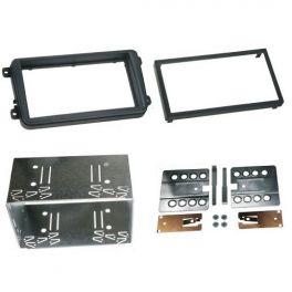 Kit integration 2 DIN SEAT LEON 2010-2014 avec cage aluminium