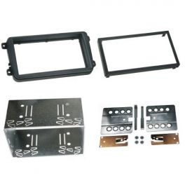 Kit integration 2 DIN SKODA SUPERB 2008- avec cage aluminium