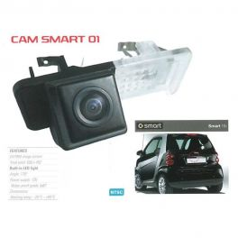 CAMERA DE RECUL INTEGREE DANS ECLAIRAGE PLAQUE SMART FORTWO 2010-2016