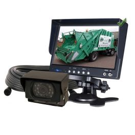 KIT CAMERA DE RECUL VIDEO COULEUR MONITEUR 12V - 24V