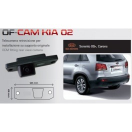 CAMERA DE RECUL INTEGREE DANS ECLAIRAGE PLAQUE KIA CARENS