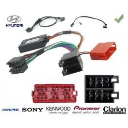 COMMANDE VOLANT Hyundai I800 connecteur carre - complet avec faisceau specifique