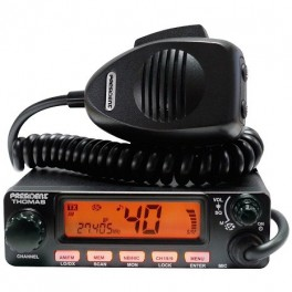 POSTE CB PRESIDENT THOMAS ASC 40 canaux AM/FM Grand afficheur LCD multifonction